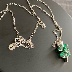 Shamrock silver necklace